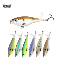 Kingdom Fishing Lures 110mm 90mm Floating Topwater Baits Soft Spinning Propeller Tail KINGPOP Pencil Tackle 9501