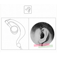 baofeng bf 888s uv איכות גבוהה אפרכסת Headset לקבלת מכשיר הקשר לקבלת Baofeng BF-888S UV-5R א ב ג ד ה Kenwood Retevis TYT HYT Beifeng Quansheng (2)