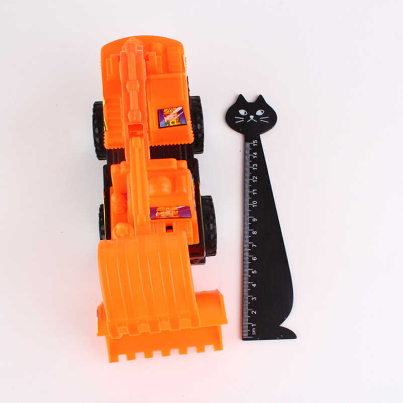 Mini Mainan Kendaraan Diecasts Plastik Teknik Mobil Traktor Dump Truck Excavator Model Klasik Hadiah Mainan untuk Anak-anak