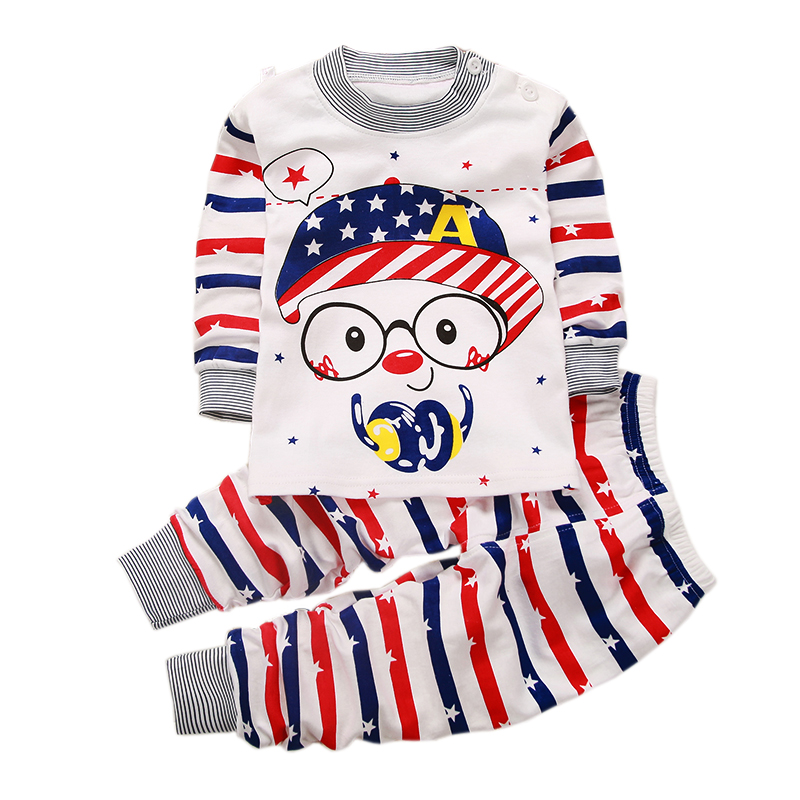 Newborn Baby Boys Clothes Set Cartoon Long Sleeved babes girls Clothing 2PCS T-shirt + Pants Outfits Kids outfit Jogging Suits 2pcs baby girls clothes newborn baby girls cartoon tops shirt pants outfits set cute animals little sheep kids baby clothing