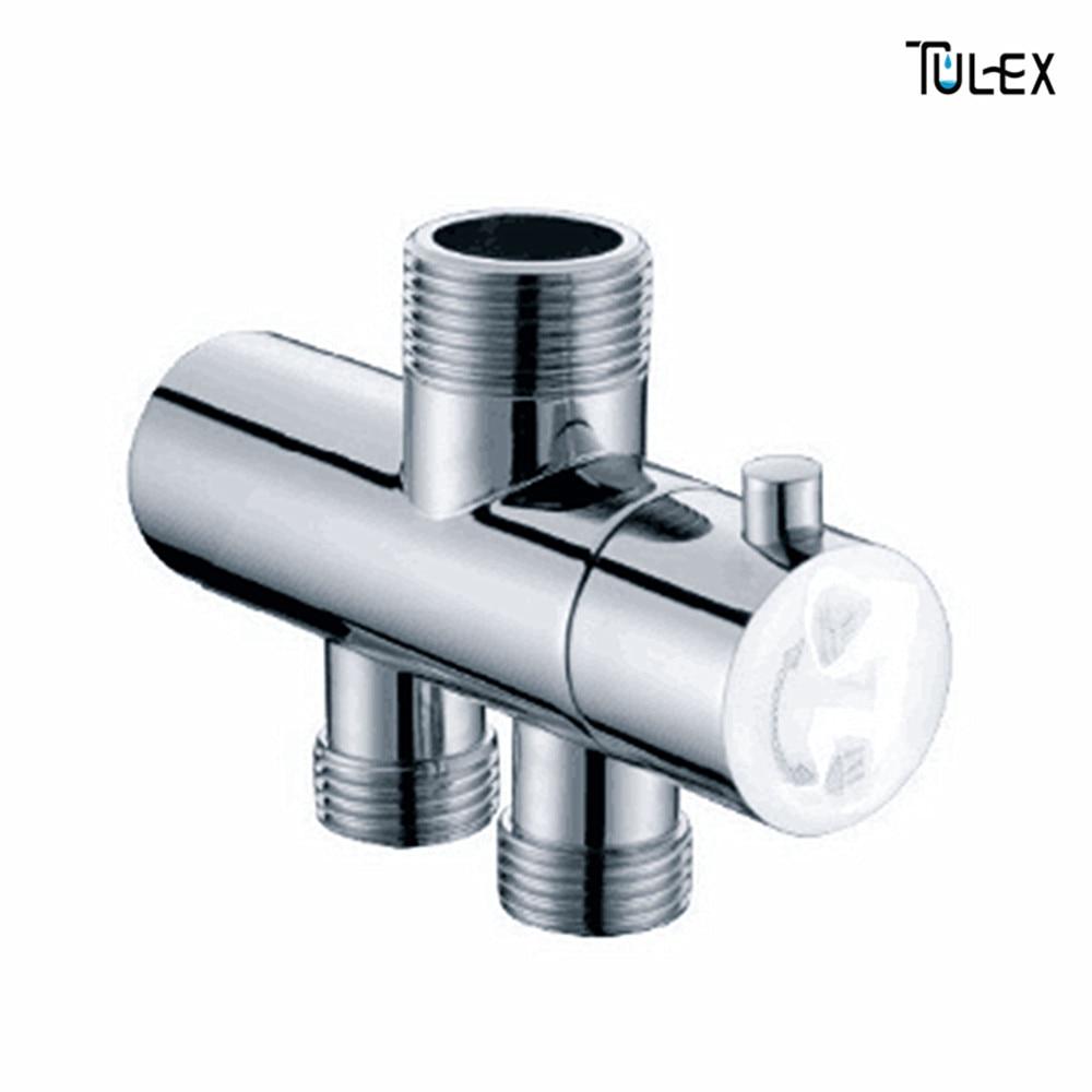 Faucet Shower Diverter 3 Way Shower Arm Diverter 2 Functions Shower Faucet Valve for Shower Mixer Brass Body Chrome Plated shower faucet mixing valve for bidet solar heater shower mixer diverter