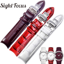 18mm פטנט עור גבירותיי שעון רצועת שעון טיסו להקות 1853 אישה צמידי שעון נשי חגורות Couturier T035210 207