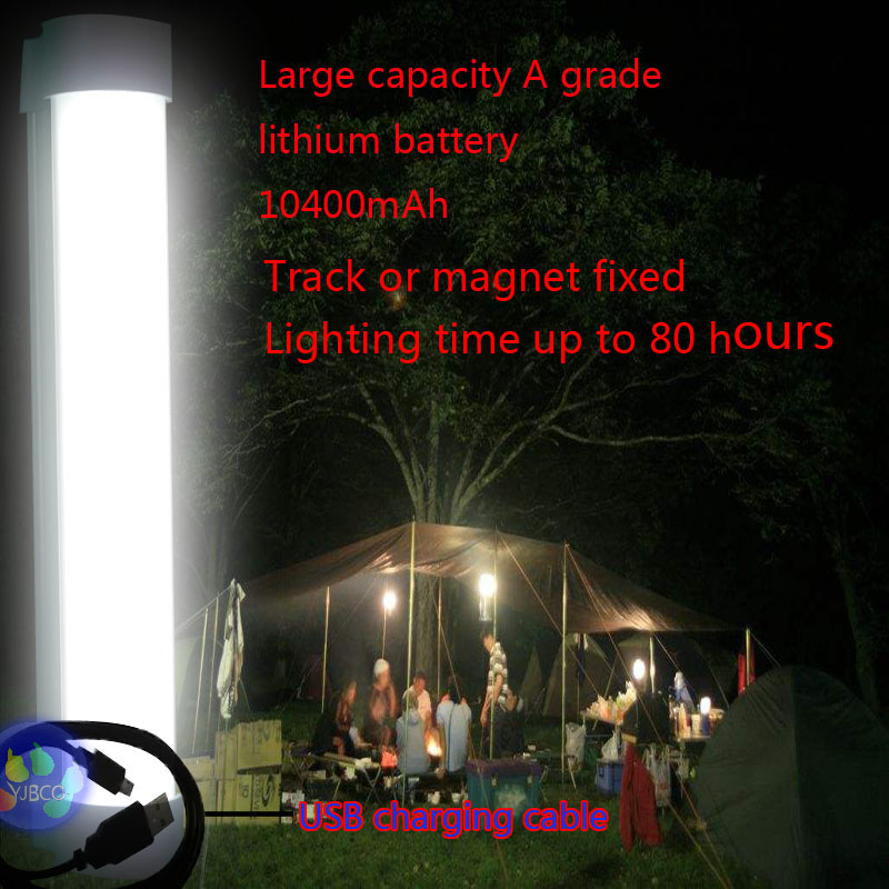 Rechargeable wireless multi-function Emergency lights 10400mAh Battery capacity for Indoor /outdoor led camping lamp