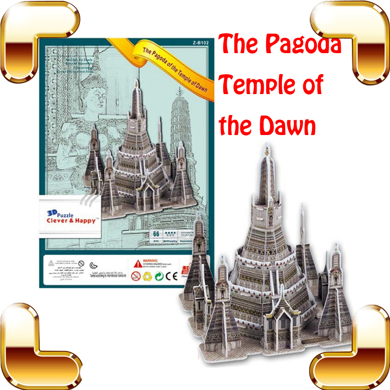 New Year Gift Wat Arun Temple of the Dawn 3D Puzzle Bangkok Pagoda Puzzle Building Model Collection EPS Material DIY Present Toy