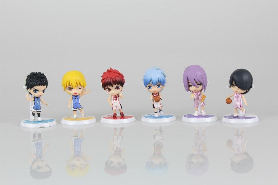 2 Style 6pcs/set Anime Kuroko's Basketball Kuroko no Basuke Edition PVC Action Figure tetsuya Basket Collection Model Toy 1