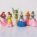 6 Tinker Bell pçs/set Princesa Ariel Cinderela Branca de Neve Figura Toy Dolls Para A Menina