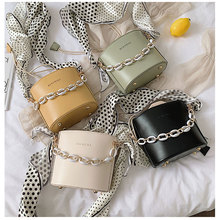 Fashion Mini Bucket Bags For Ladies Casual Acrylic Chain Handle Shoulder Women Elegant Scarf Messenger Bolsa Feminina