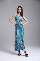 Newest Summer Style Sexy Women Bohemian Beach Long Dress Hot Beachwear Cover Up Milk Silk Dress
