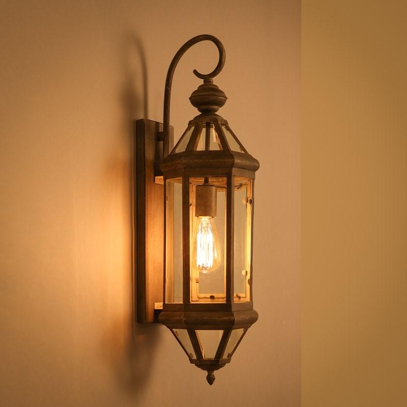Industrial Wind Restaurant Foyer Wall Lamp Bedroom Corridor Light Retro Decor Aisle Balcony Fixture