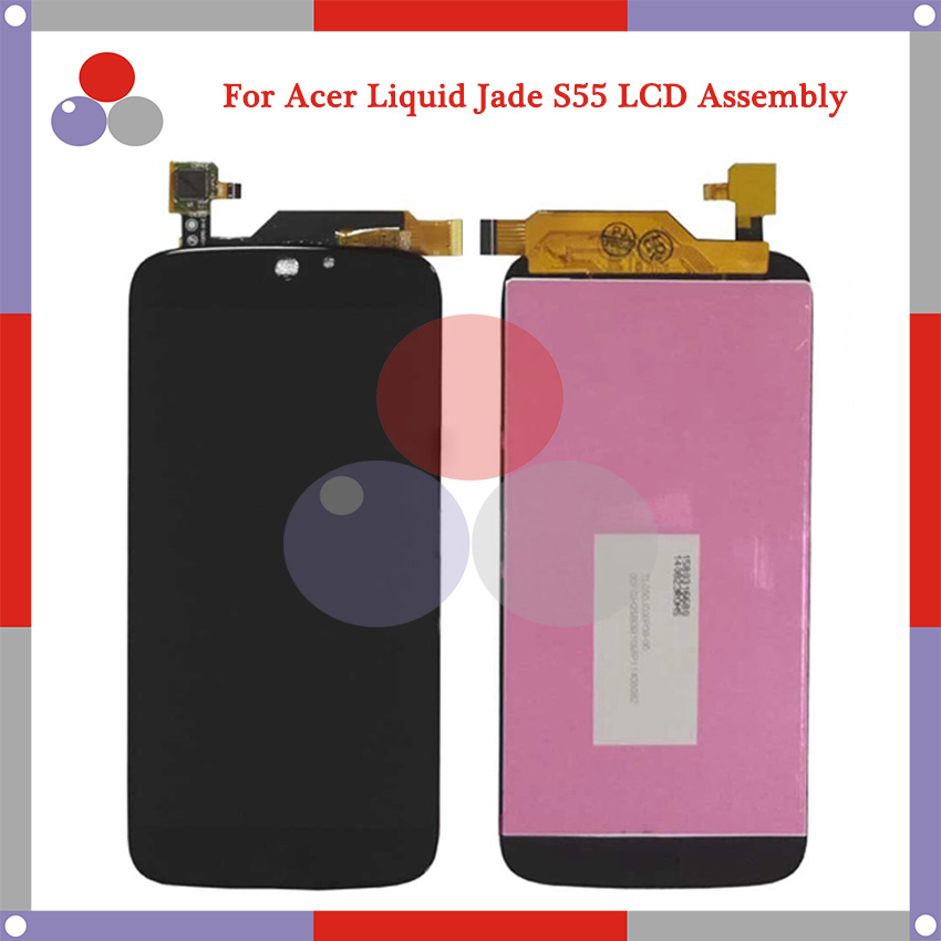 Highest quality For Acer Liquid Jade S55 LCD Screen Display + Touch Screen Digitizer Assembly Free Shipping for acer liquid jade s55 lcd screen with