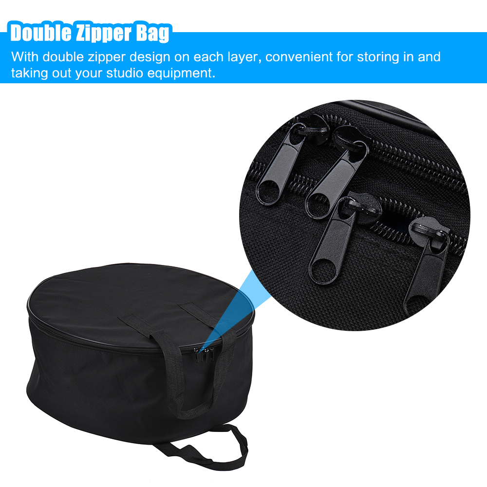 55cm Beauty Dish Carry Case Bag Studio Equipment Bag Two layer Design Drum Style with Honeycomb Grid Divider (54 56cm)-in Photo Studio Accessories from Consumer Electronics    1