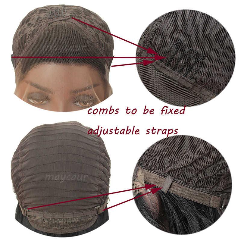 Омбре красный длинный прямой синтетический парик фронта шнурка термостойкие волосы парики для женщин бесплатная часть парики 180 плотность