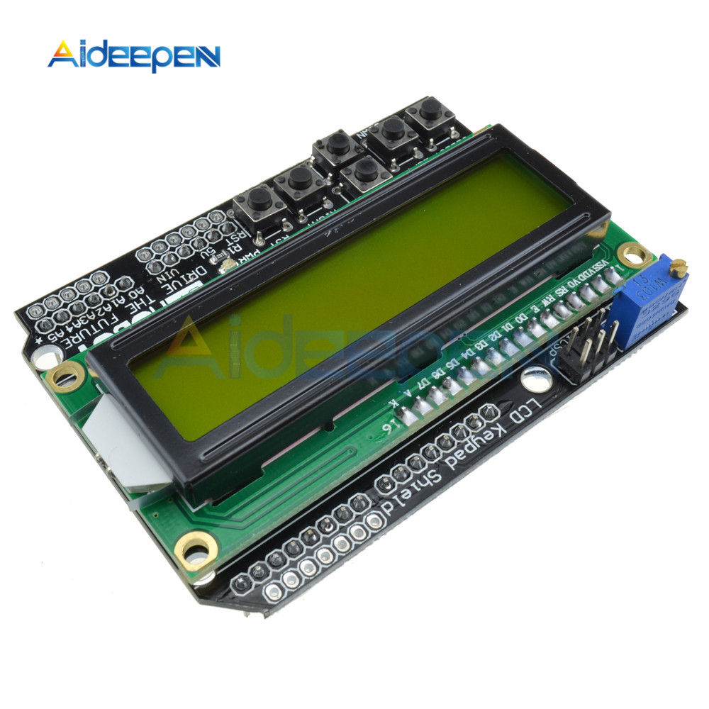 1602 LCD Expansion Board Adjustable Brightness 12C MCP23017 5 Keypad 16x2 Character LCD Display Module Board For Arduino