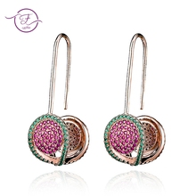 Top Brand Drop Earrings For women 100% Real 925 Sterling Silver India Jewelry Bohemia Women's Earring Birthday Party Gifts New