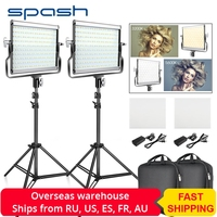 spash L4500 2 Sets LED Video Light with Tripod Bi color 3200K 5600K CRI95 Photography Lighting Photo Lamp Light for Video Studio