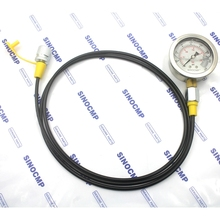Excavator Hydraulic Pressure Gauge Test Kit, Diagnostic Tool, Hydraulic Point Tester Coupling