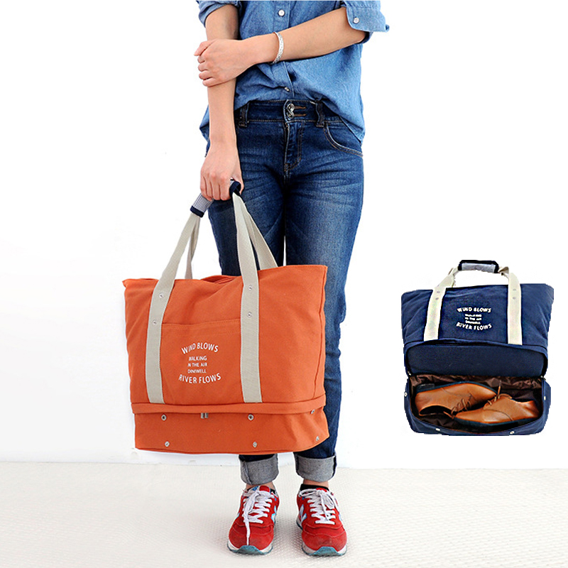 0a684967a3b2 Jaybag 2019 Multi-functional Travel Duffle Shoe сумка Высокая емкость  женская сумка из брезента легко