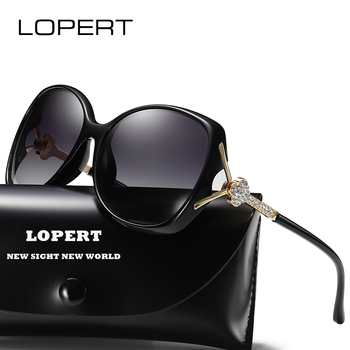 LOPERT Brand Designer Gradient Polarized Sunglasses Womens Retro Vintage Cat Eye Sun Glasses Fashion Diamond Eyeglasses De sol