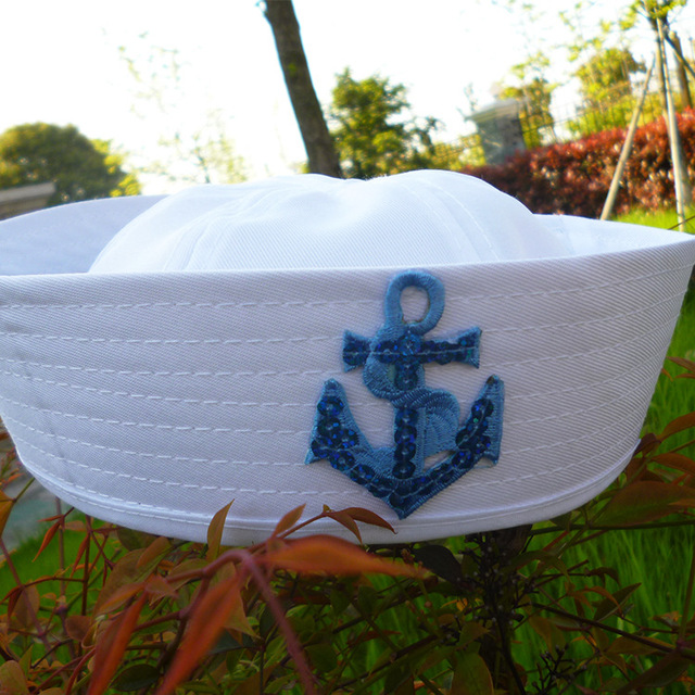 Kid's Anchor Embroidery Cotton Cap 4
