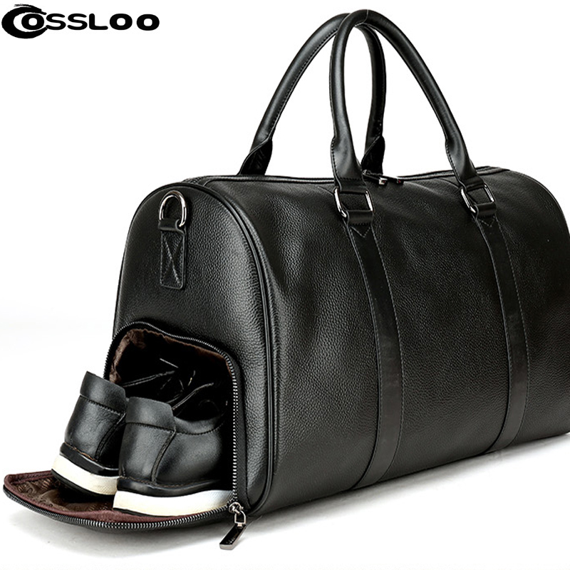 Men s Travel Bag Casual Genuine Leather Luggage Carry On Leather Duffel  Shoulder Bags Weekend Bag Big. US  79.99. (6). 8 orders. COSSLOO New Women  ... 6468a31abb00d