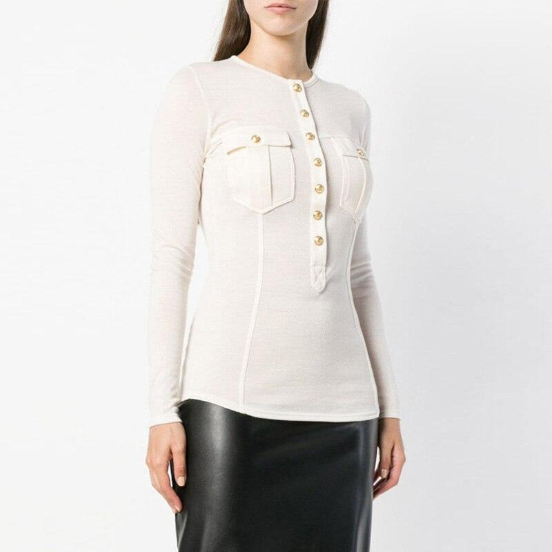 Mince Tout Longues rose Chandail Vente Conception Laine Top Blanc Femmes Manches Tricot Élégantes Casual allumette Boutons Chaude noir Hxq0Sx56