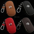 Car Genuine Leather Key Case Bag Cover For Volkswagen VW CC Passat B6 B7 Passat 3C CC Maogotan R36 B5 B7L Auto Cover Accessories