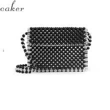 Caker Brand 2019 Women Pearl Beaded Shoulder Bags Drop Shipping