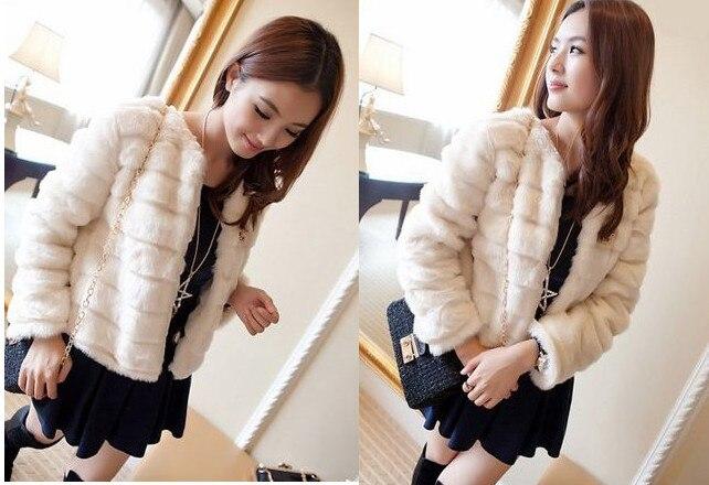 Coat Office Faux Women Fur Tunic 2018 R38 Women's Winter Robe Workear Sexy Elegant Luxury Artificial Solid g5aqtw8UxU