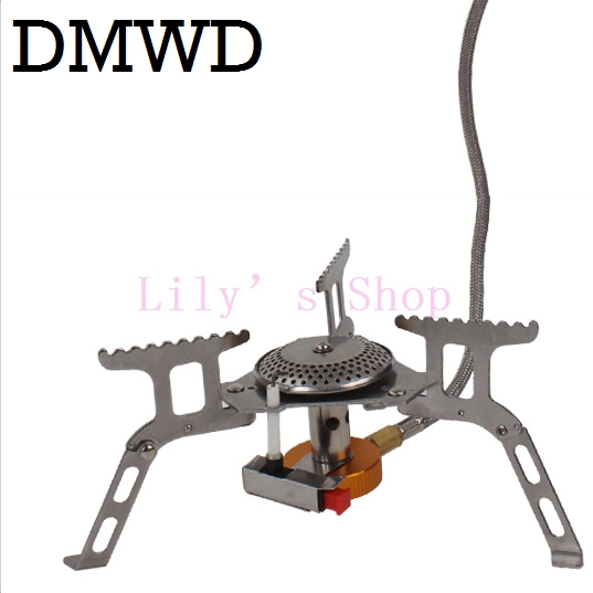 Split Type Outdoor Gas Stove Burner camping MINI Foldable Stainless Steel small Gas Cooking Stove Gascookers Picnic Equipments split gas stove burner made of titanium alloy for outdoor camping 98g power 2800w