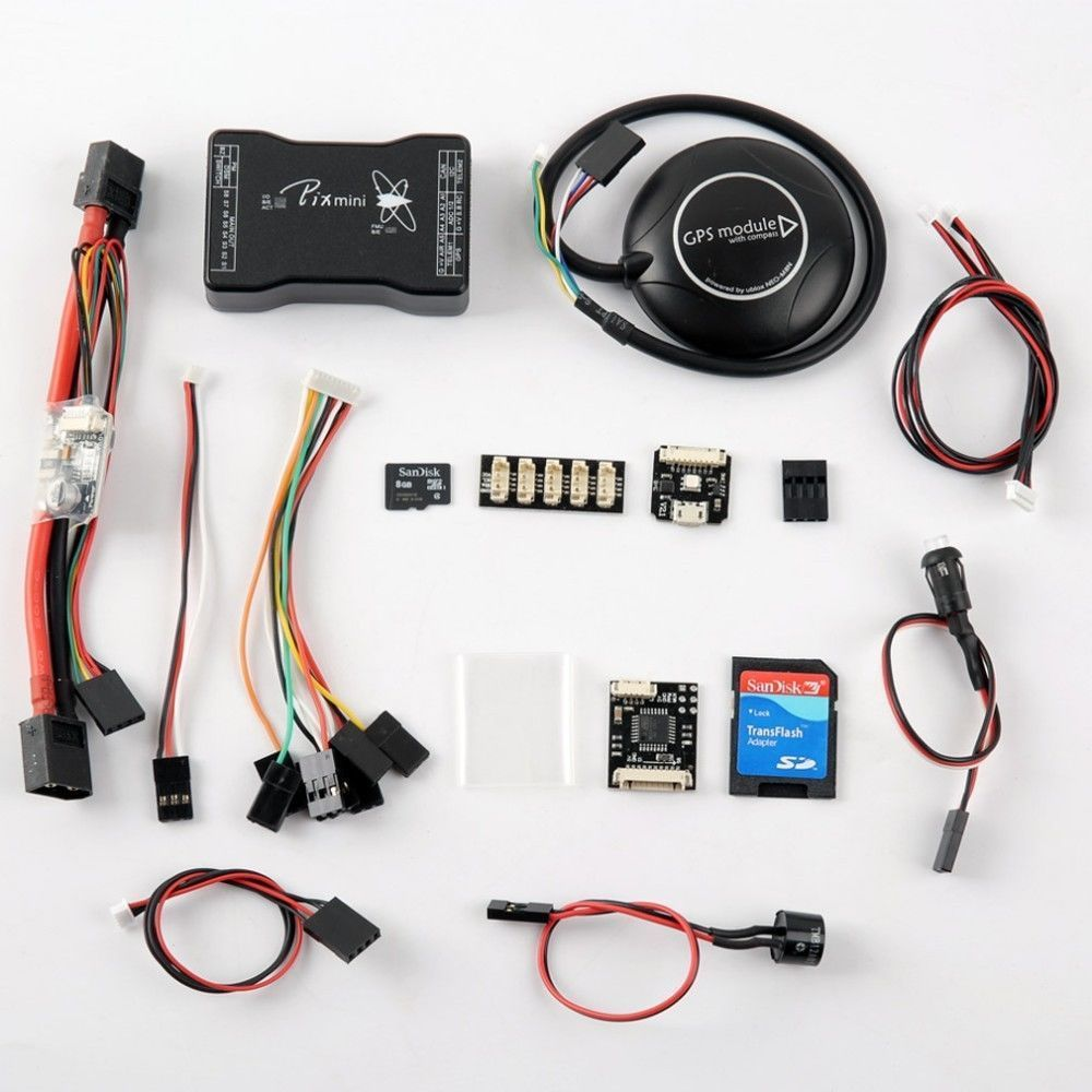 PX4 Pixhawk V2.4.7 32-bit Flight Controller & M8N GPS & Transmitter & OSD & LED jmt pixhawk flight control px4 2 4 8 new 32 bit m8n gps kit for uav multi axis fixed wing drone