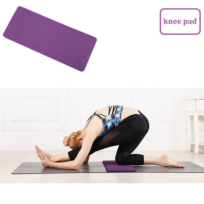 Yoga Knee Pad Pilates Fitness Non Slip Thick 10 mm Mat Knees Wrists and Elbows Pad Exerc ...