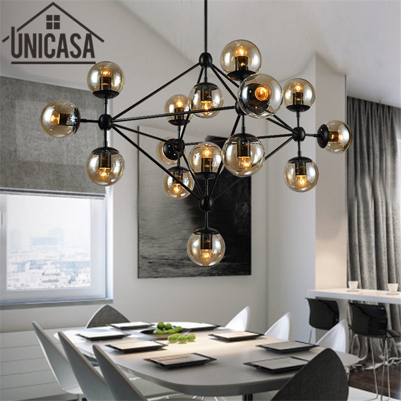 Pendant Lights Black Hot Iron Modern The Lamps And Lanterns Vintage Light Lighting Bar Amber Glass Ceiling Lamp Kitchen modern iron 3heads yellow gray blue pendant light study macarons restaurant bar inline chandel lighting pendant lamps za925435
