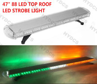 CYAN SOIL BAY 47 88 LED Emergency Warning Tow Truck Roof Strobe Light Bar Green White
