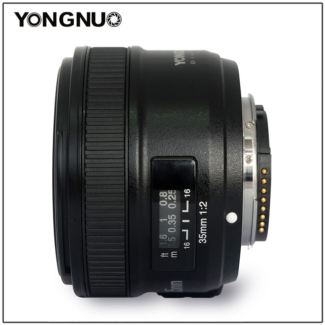 Prix pour En Stock Yongnuo 35mm F/2 F2.0 Lens 1:2 Large-Angle Prime Auto Lentille AF/MF pour Nikon D7300 D7200 D7100 D7000 D5500 D5300 D3300