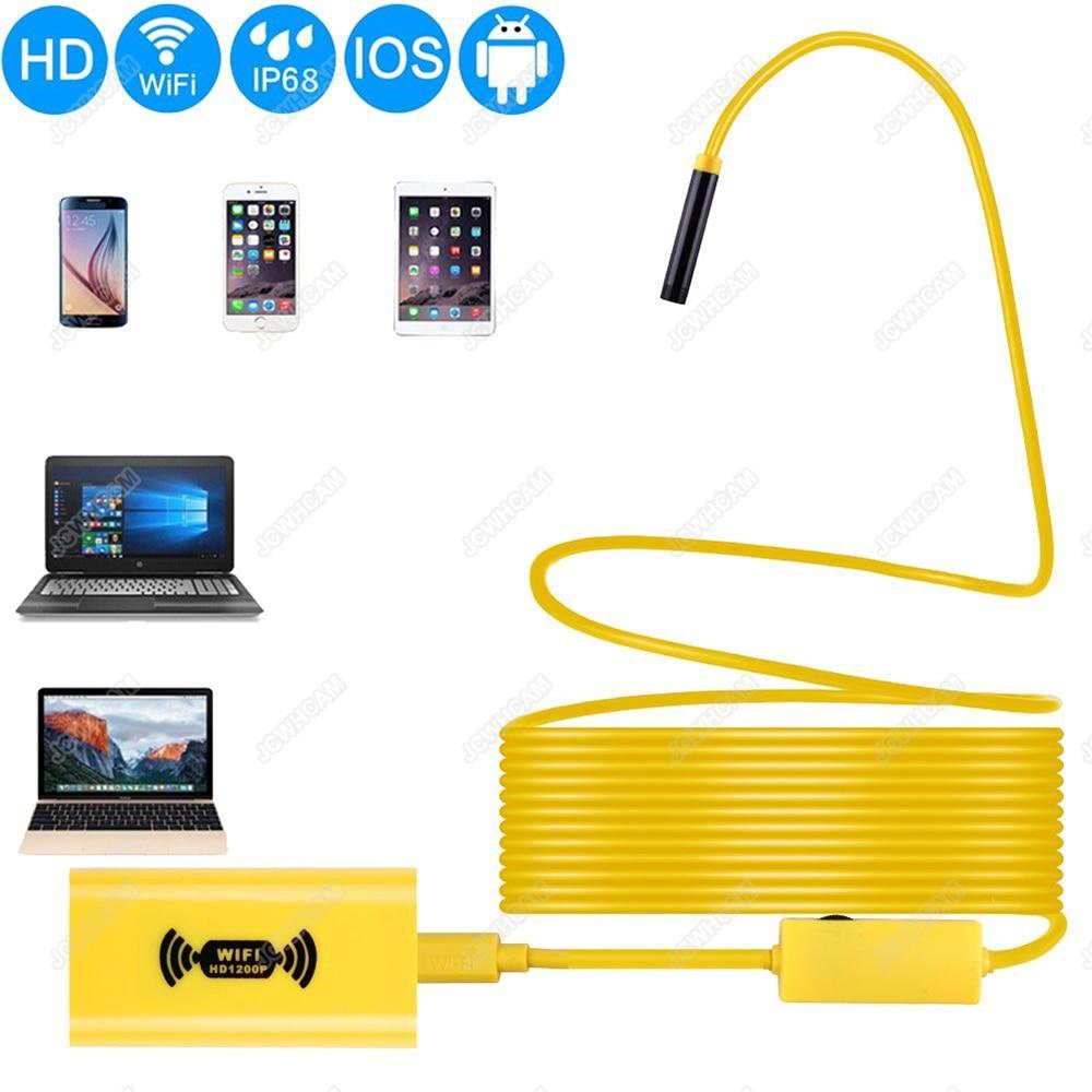 8mm 1200P HD WIFI hardwarový kabel s endoskopem 1/2 / 3.5 / 5 / 10M - Videokamery a fotoaparáty - Fotografie 1