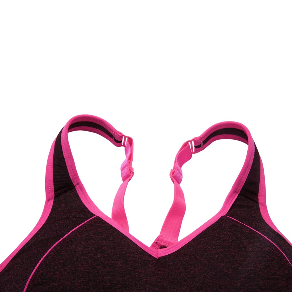 b2f1bf209e2a5 Professional Adjustable Fasten in Back Sports Bra Women s New Yoga Running  High Supportive Fit Wirefree Comfort Top Activewear-in Sports Bras from  Sports ...