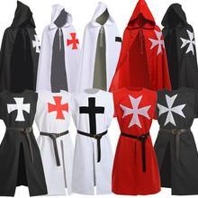 Medieval Halloween Cloak Men Vintage Knights Hospitaller Crusader LARP