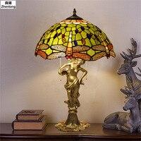 Dragonfly Light E27 Bulb Vintage Creative Desk Lamp Reading Bed Light LED Table Living Room Table Lamp Decorative Led Study Lamp
