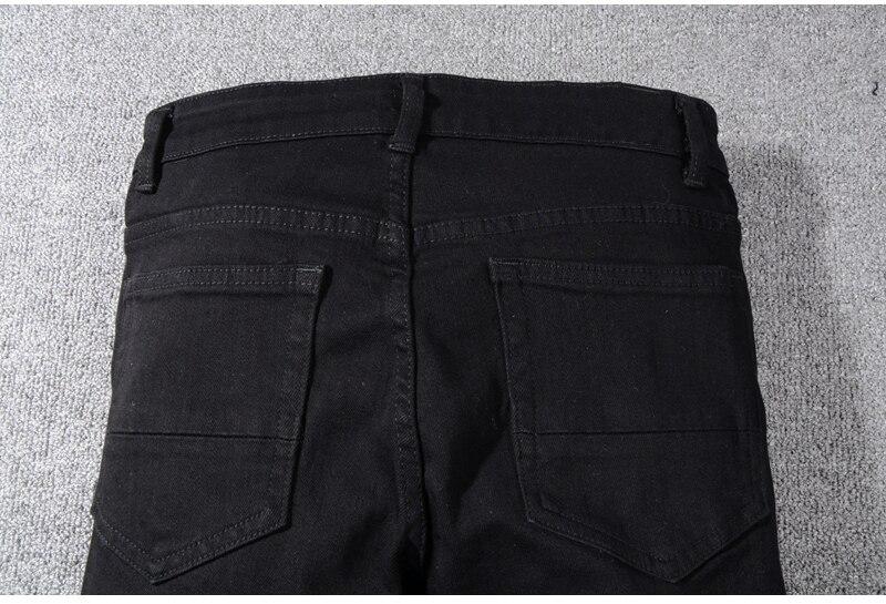 Royles Men's skinny black ripped jeans 8