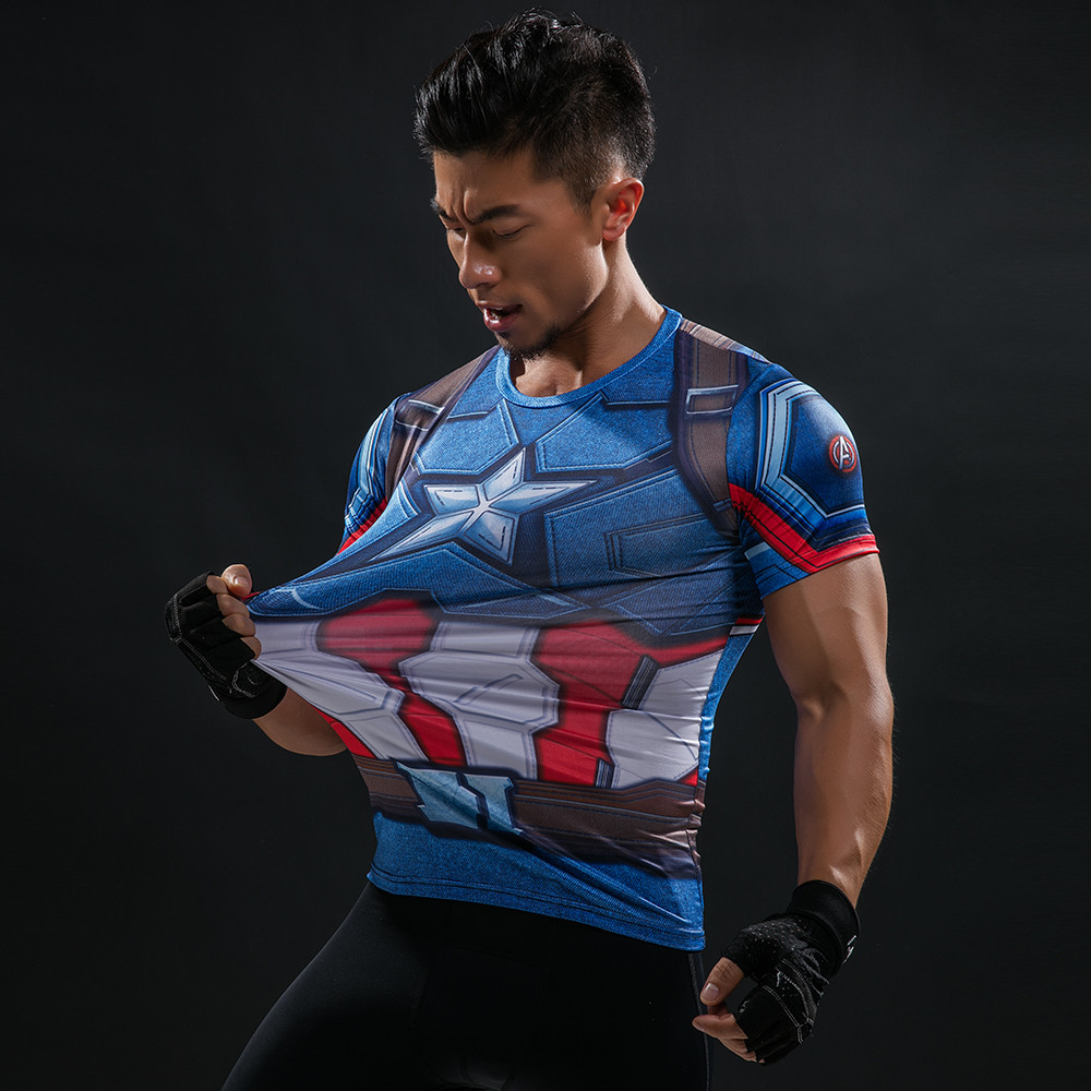 Punisher 3D Printed T-shirts Men Compression Shirts Long Sleeve Cosplay Costume crossfit fitness Clothing Tops Male Black Friday 96