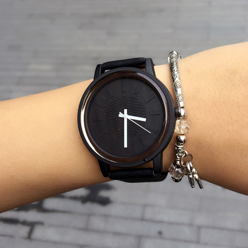 2018 Fashion kvinder ser Classic Simple Style Top Famous Luxury mærke kvarts watch Women Black casual Clock relogio feminino