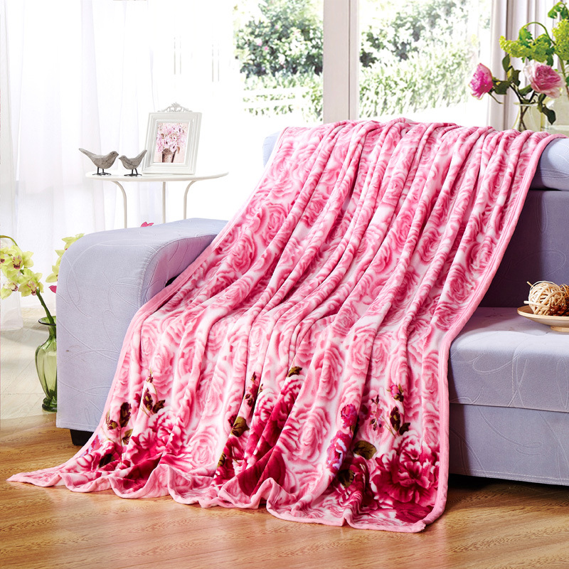WLIARLEO New Floral Blankets High Quality Thicker Soft Blanket Anti-mite Spring Adult Chidren blankets for Bed/Sofa coperta pile