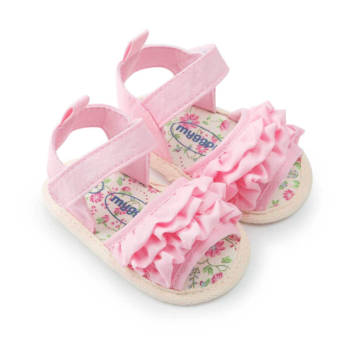 2018 Emmababy Baby Girl Shoes Flower baby Toddler Princess  Shoes Anti-slip Sneaker  Girls Kid Baby Summer Sandals