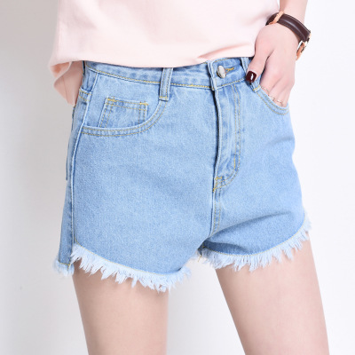 2017 Korean Version of The Summer Wash Women Shorts S XL Fashion Casual Loose Burr High