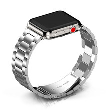 Stainless Steel Strap for Apple Watch Band 38mm 42mm Metal Links Bracelet Smart Watch Strap for Apple Watch Series 1 2 3 4(China)