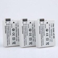 Câmera para Canon Aopuly 3 Pcs Lp-e8 LP E8 Lpe8 Bateria DA Eos 550d 600d Beijo X4 X5 X6i X7i 700d 650d Rebel T2i T3i T4i T5i Baterias