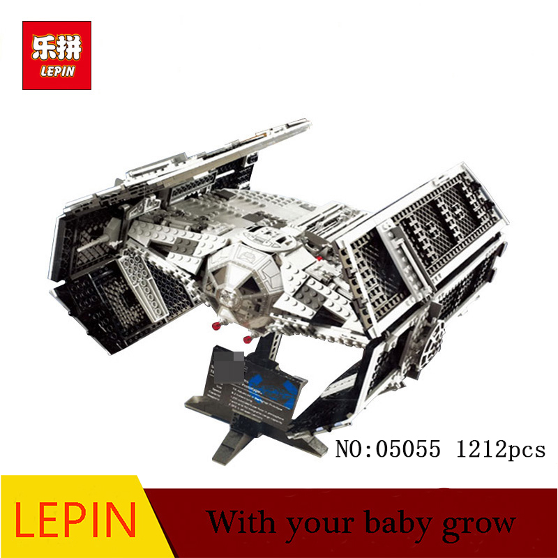 DHL LEPIN 05055 Star 1212Pcs Toy Wars Vader TIE advanced Model Building Kit Blocks Bricks Compatible Children 10175 dhl free shipping lepin 16002 pirate ship metal beard s sea cow model building kits blocks bricks toys compatible legoed 70810