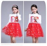 Customs New Arrived Girl S Princess Dress Elsa Anna Kids Wedding Party Dresses For Baby Children