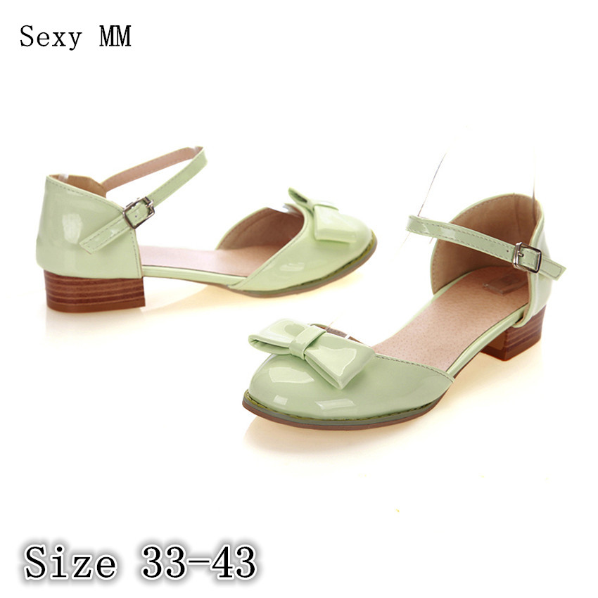 Summer D'Orsay Shoes Women Low Med Heels Square Heel Sandals Woman High Heels Ladies Sandals Pumps Plus Size 33 - 40 41 42 43 plus size 33 43 new women sandals square thin heel summer ankle strap woman shoes red ladies fashion gladiator party pumps shoes