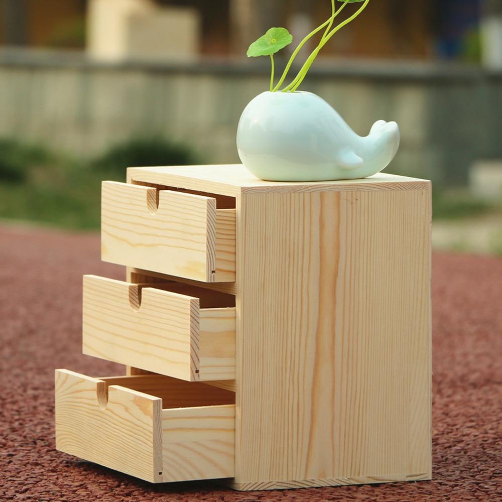 A1 الخشب صندوق تخزين سطح المكتب التجميل خزانة متعددة الطبقات درج مكتب عمل صندوق تخزين wx10251125-في صناديق وعلب تخزين من المنزل والحديقة على  مجموعة 3